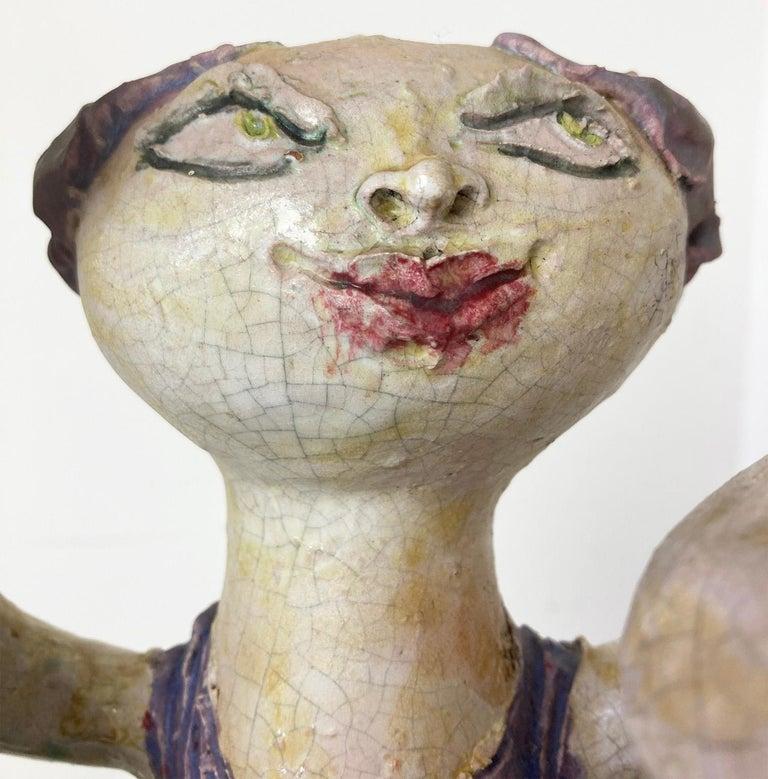 """Mid-Century Modern Italian Ceramic """"Tre Donne"""" by Renato Bassoli, Mlano 1960s For Sale 1"""