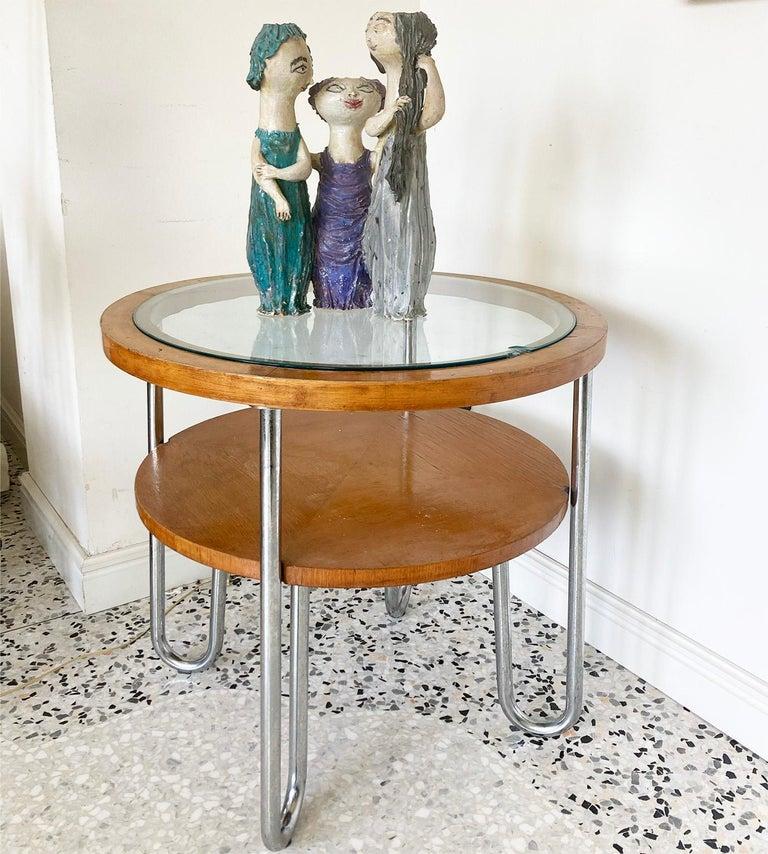 """Mid-Century Modern Italian Ceramic """"Tre Donne"""" by Renato Bassoli, Mlano 1960s For Sale 2"""