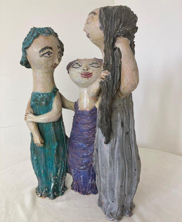 """Mid-Century Modern Italian Ceramic """"Tre Donne"""" by Renato Bassoli, Mlano 1960s For Sale 3"""