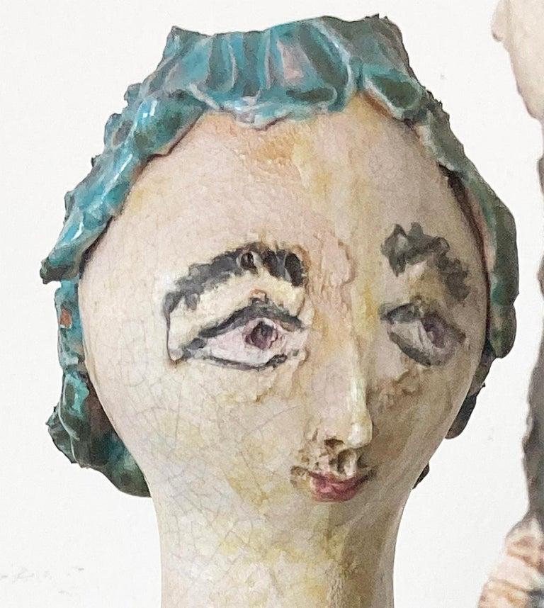 """Mid-Century Modern Italian Ceramic """"Tre Donne"""" by Renato Bassoli, Mlano 1960s For Sale 5"""