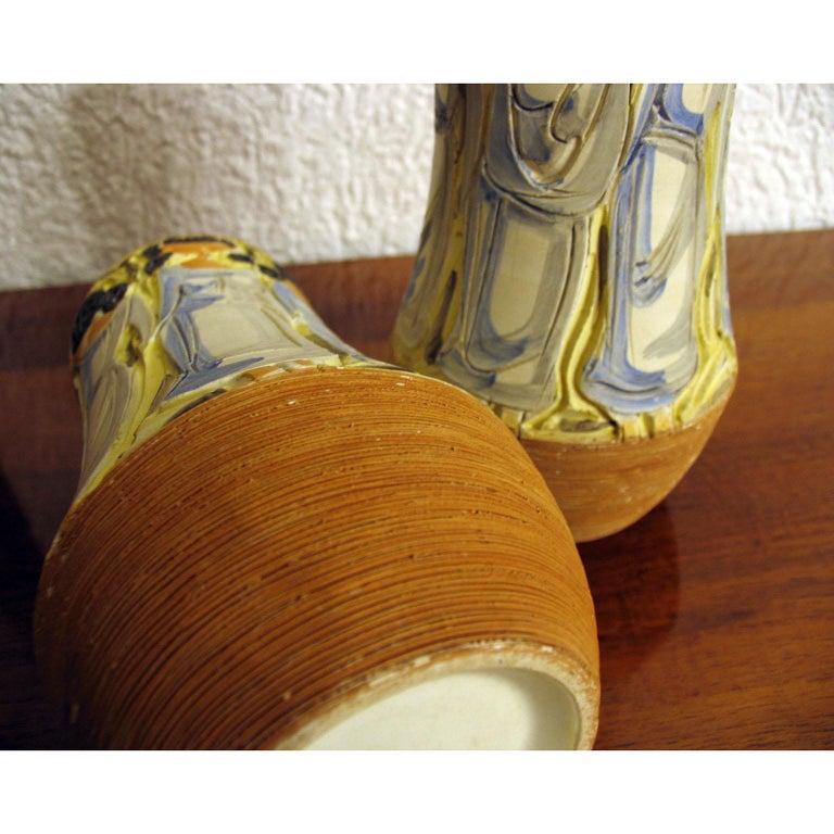 Mid-Century Modern Italian Ceramic Vases For Sale 6