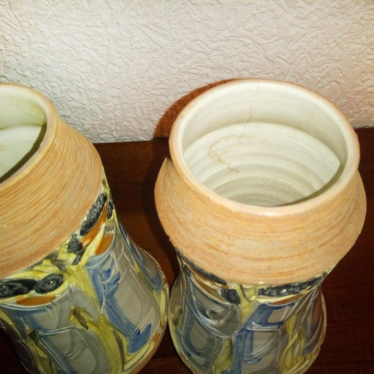 Mid-Century Modern Italian Ceramic Vases For Sale 7