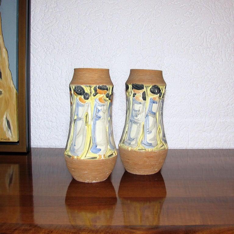 Mid-Century Modern Italian Ceramic Vases In Good Condition For Sale In Bochum, NRW