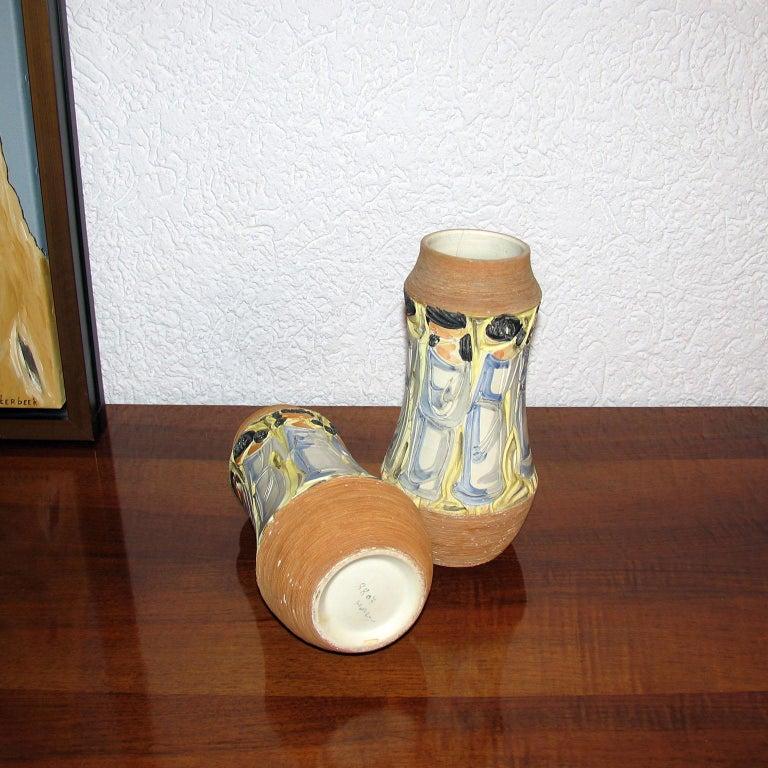 Mid-Century Modern Italian Ceramic Vases For Sale 2