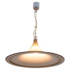 Mid-Century Modern Italian Chandelier Hat Murano Glass, 1970