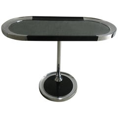 Mid-Century Modern Italian Chrome Console with Smoked Mirror Top, 1970s