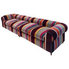 Mid-Century Modern Italian Colorful Sofa Italy, 1980