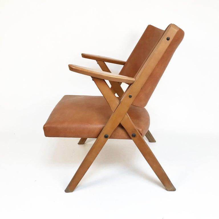 Dal Vera Mid-Century Modern wood armchairs, 1950.