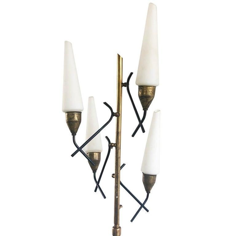 Metal Mid-Century Modern Italian Floor Lamp For Sale