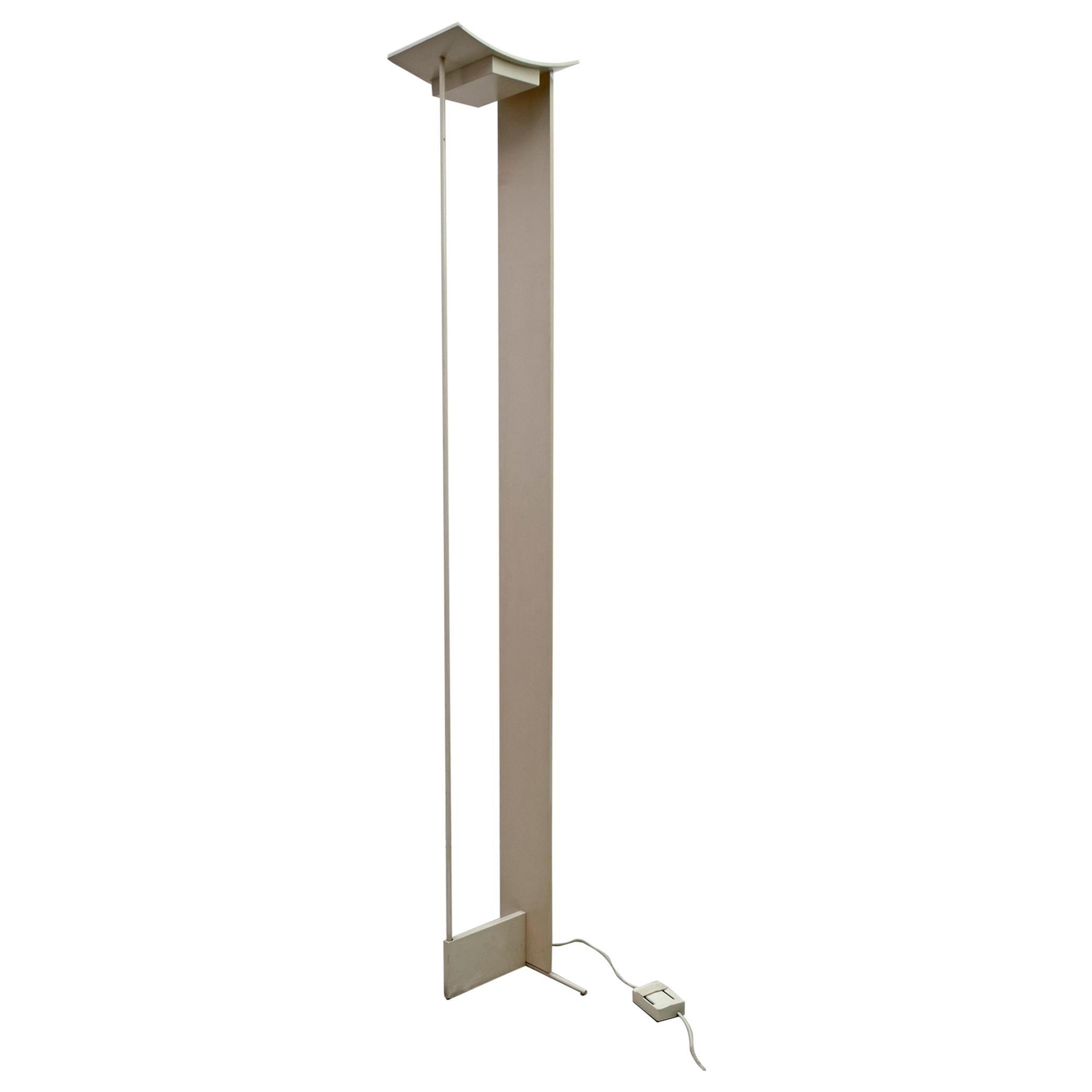 """Mid-Century Modern Italian Floor Lamp """"Modulo"""" by Microdata Milano, 1970s"""