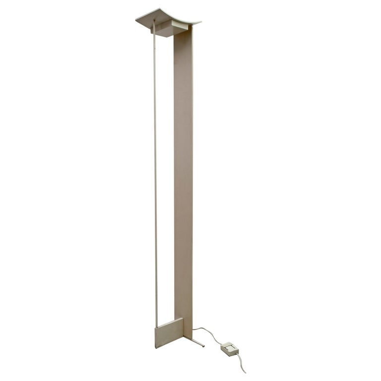 "Mid-Century Modern Italian Floor Lamp ""Modulo"" by Microdata Milano, 1970s For Sale"