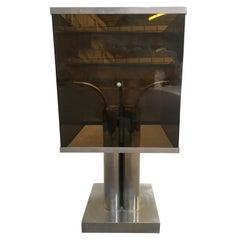 Mid-Century Modern Italian Four-Light Chrome Table Lamp, 1970s