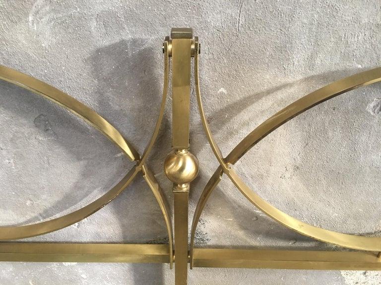 Mid-Century Modern Italian Gilt Brass Double Bed, 1960s 1