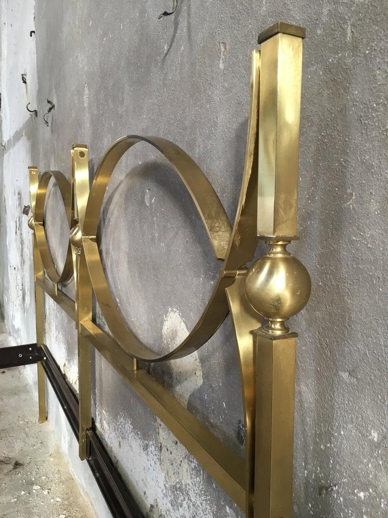 Mid-Century Modern Italian Gilt Brass Double Bed, 1960s 3