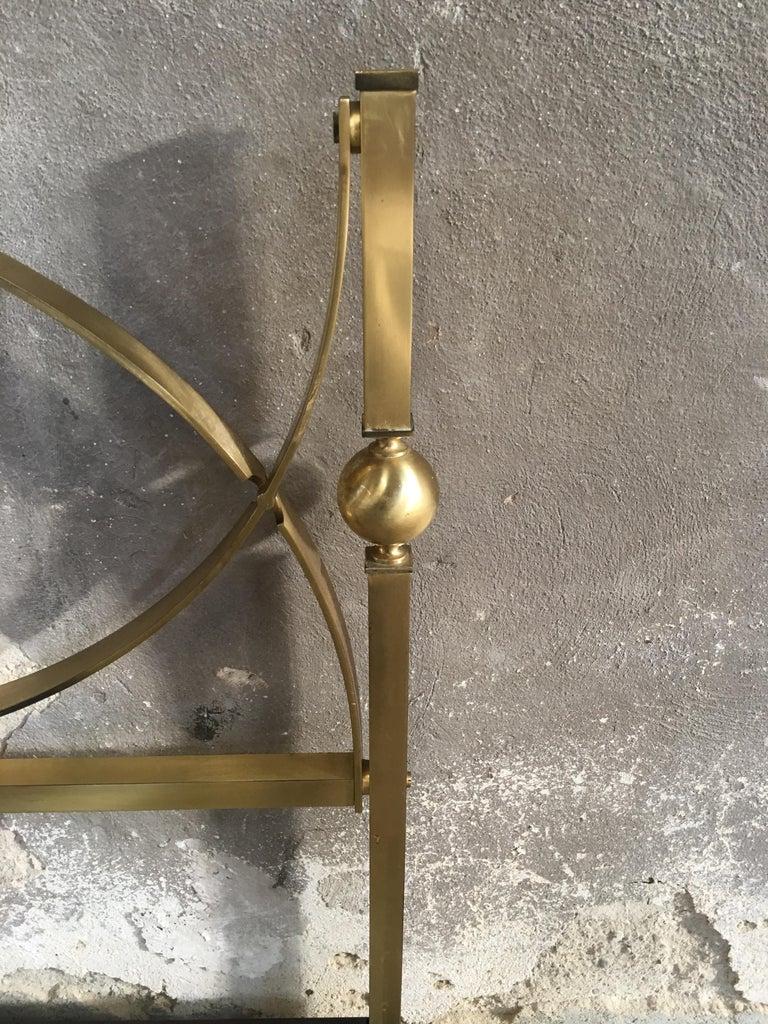 Mid-Century Modern Italian Gilt Brass Double Bed, 1960s 4