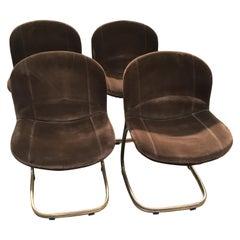 Mid-Century Modern Italian Gilt Metal Chairs by Gastone Rinaldi, 1970s