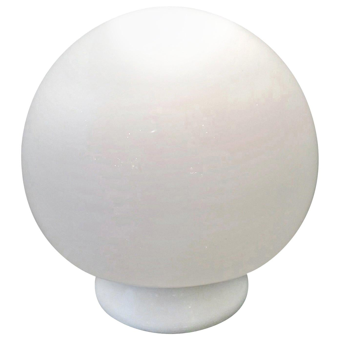 Mid-Century Modern Italian Gino Vistosi Style White Murano Glass Mushroom Lamp