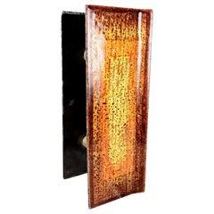 Mid-Century Modern Italian Glass Door Handles Enamel Art Studio Del Campo 1960s
