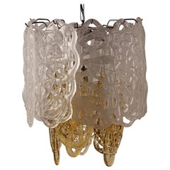 Mid-Century Modern Italian Glass Pendant Light by Mazzega