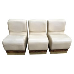 Mid-Century Modern Italian Living Room Set Consisting in Sectional Armchairs