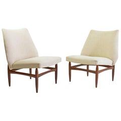 Mid-Century Modern Italian Lounge Chairs in Teak