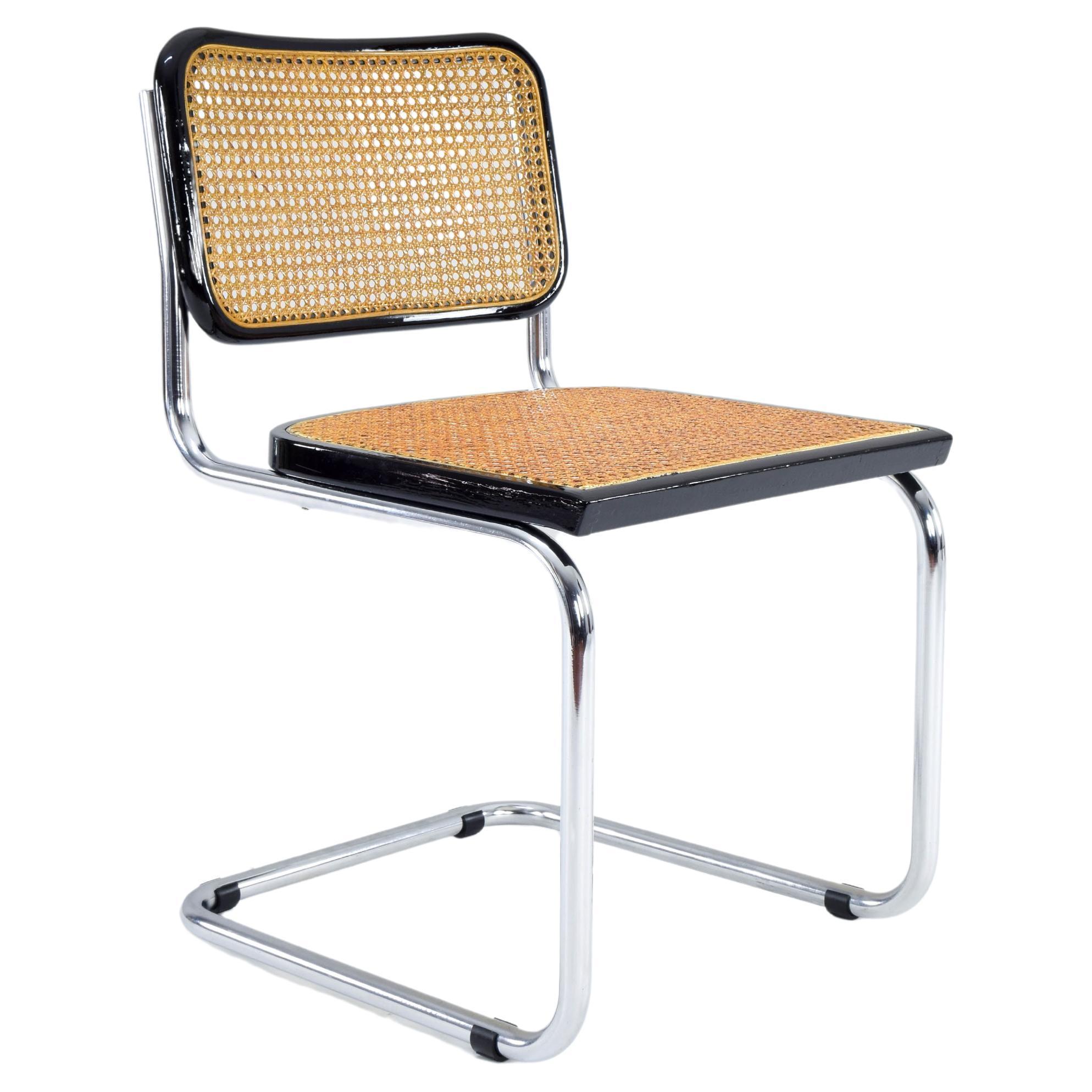 Mid-Century Modern Italian Marcel Breuer B32 Cesca Chair, 70s