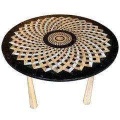 Mid-Century Modern Italian Mosaic Marble Dining/Center Table