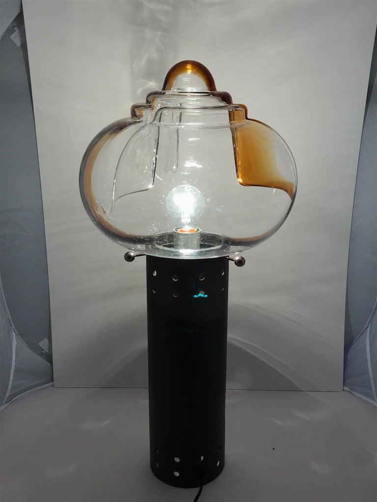 Mid-Century Modern Italian Murano Glass Table Lamp by Toni Ziuccheri for Mazzega For Sale 2