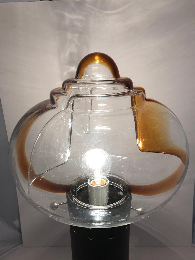 Mid-Century Modern Italian Murano Glass Table Lamp by Toni Ziuccheri for Mazzega For Sale 3