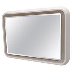 Mid-Century Modern Italian Neon Backlit Mirror, 1970s