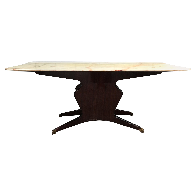Mid-Century Modern Italian O. Borsani Mahogany Table, 1950s