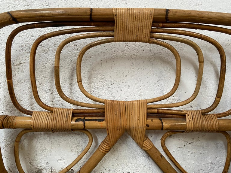 Mid-Century Modern Italian Pair of Single Bamboo Day Bed, 1960s For Sale 6