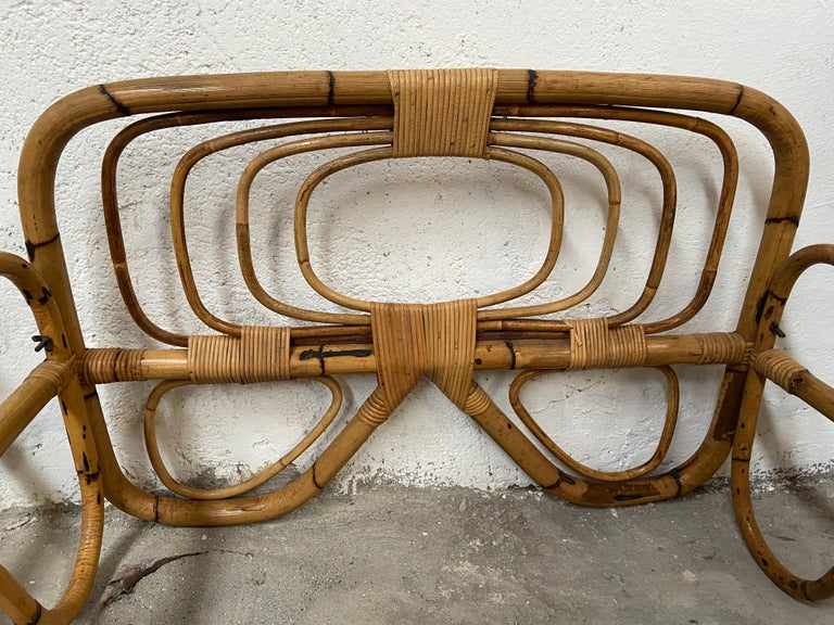 Mid-Century Modern Italian Pair of Single Bamboo Day Bed, 1960s For Sale 7