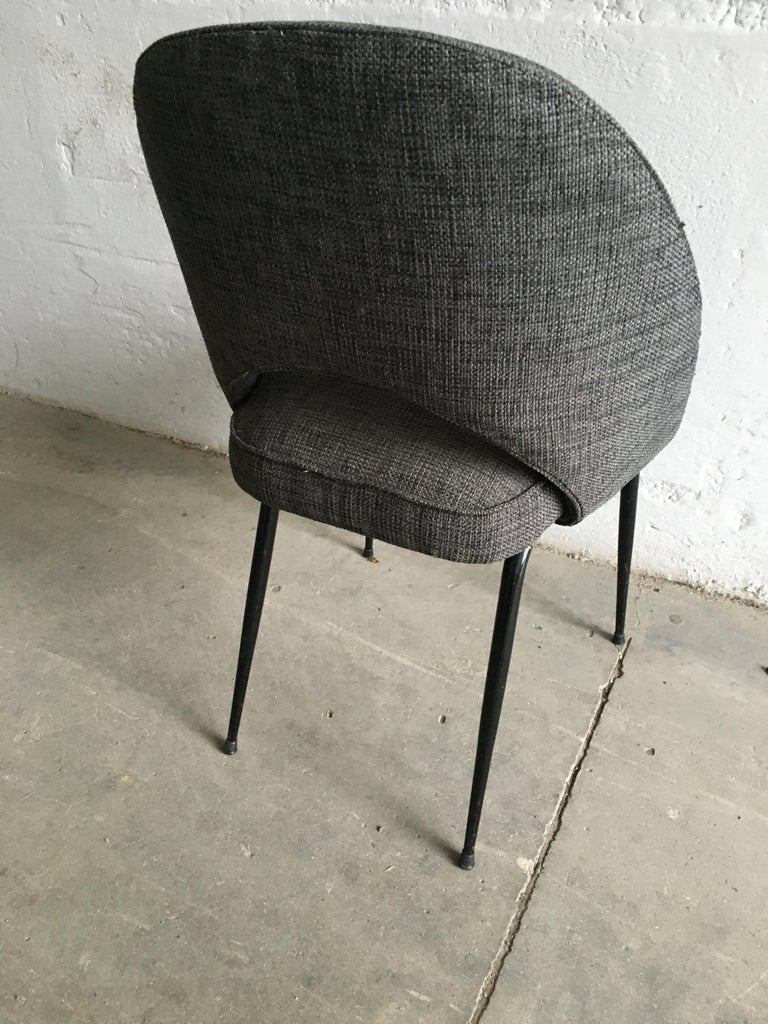 Mid-Century Modern Italian Pair of Upholstered Chairs, 1960s For Sale 4