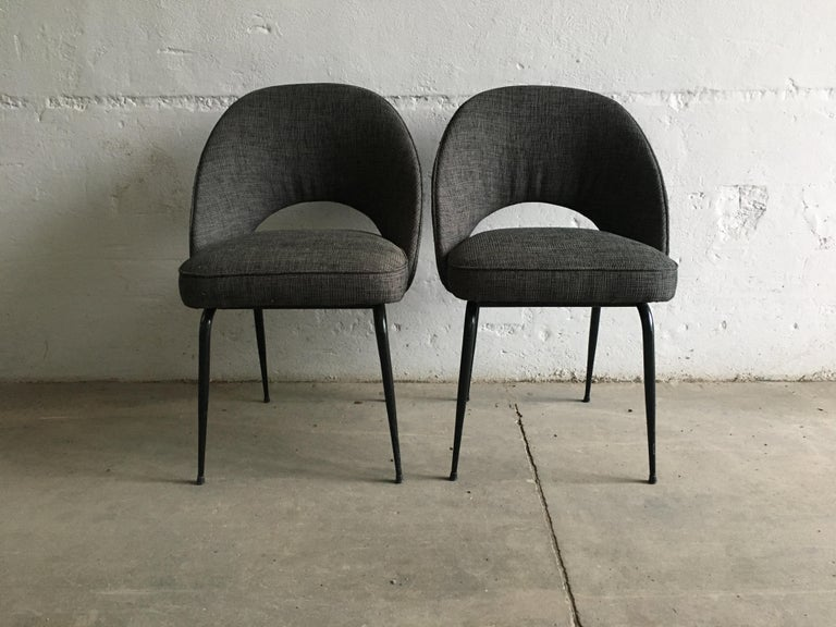 Lacquered Mid-Century Modern Italian Pair of Upholstered Chairs, 1960s For Sale
