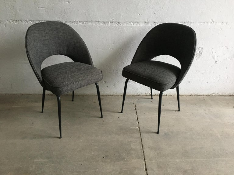 Mid-Century Modern Italian Pair of Upholstered Chairs, 1960s In Good Condition For Sale In Prato, IT