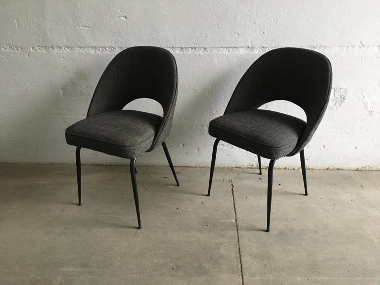 Iron Mid-Century Modern Italian Pair of Upholstered Chairs, 1960s For Sale