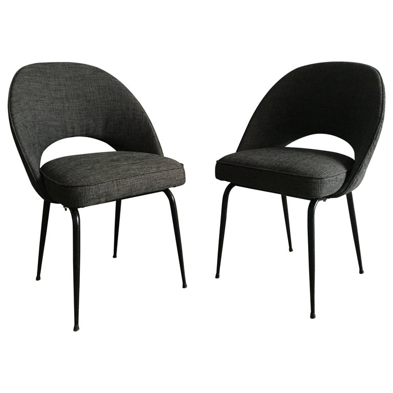Mid-Century Modern Italian Pair of Upholstered Chairs, 1960s For Sale