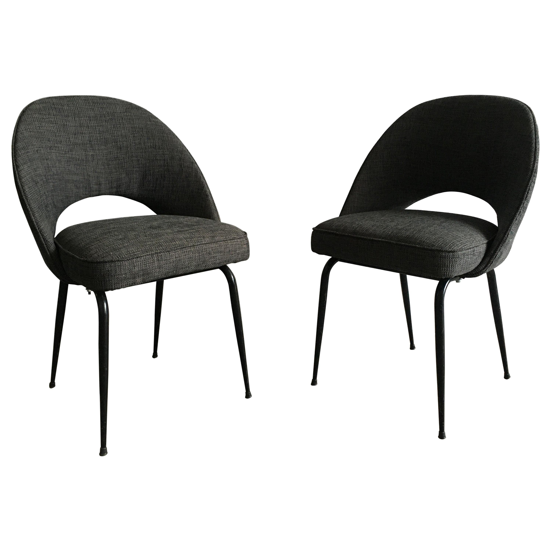 Mid-Century Modern Italian Pair of Upholstered Chairs, 1960s