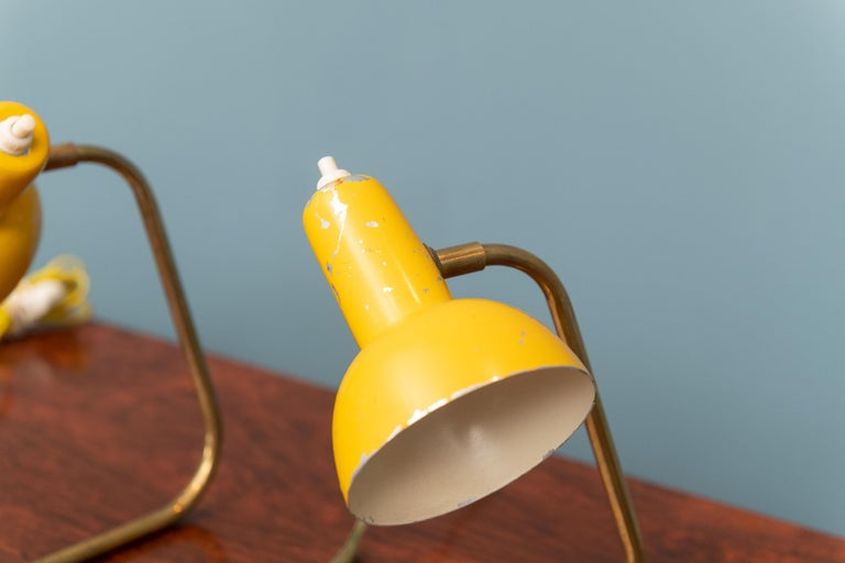 Mid-Century Modern Italian Petite Table Lamps In Fair Condition For Sale In San Francisco, CA
