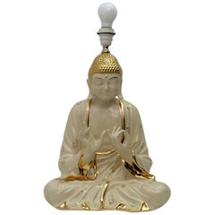 Mid-Century Modern Italian Porcelain Buddha Table Lamp by Zanotto, 1970s
