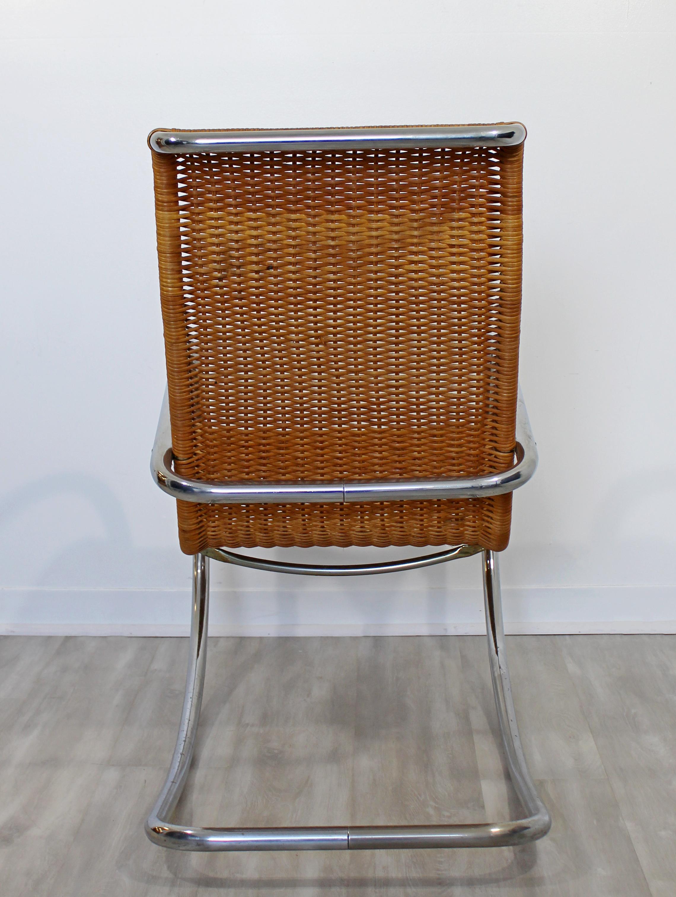 Superb Mid Century Modern Italian Rattan Tubular Chrome Rocker Rocking Chair Italy Beatyapartments Chair Design Images Beatyapartmentscom