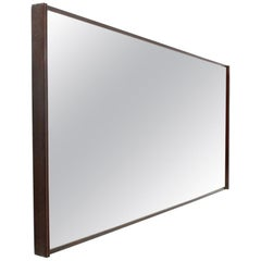 Mid-Century Modern Italian Rectangular Wooden Frame Mirror, 1950s