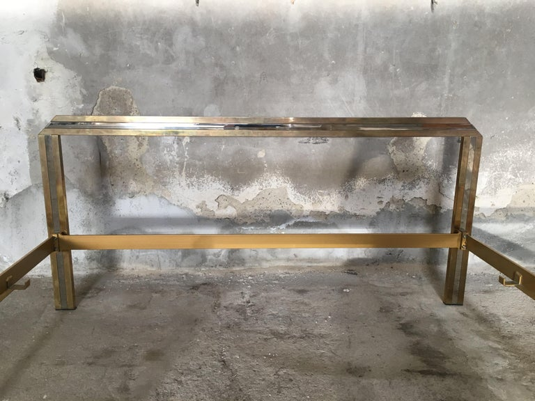 Mid-Century Modern Italian Romeo Rega Brass and Chrome Double Bed, 1970s For Sale 7
