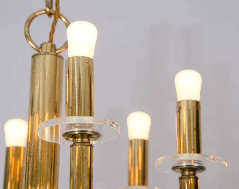 Italian Brass and Nickel Sputnik Chandelier by Sciolari Italy 1960's For Sale