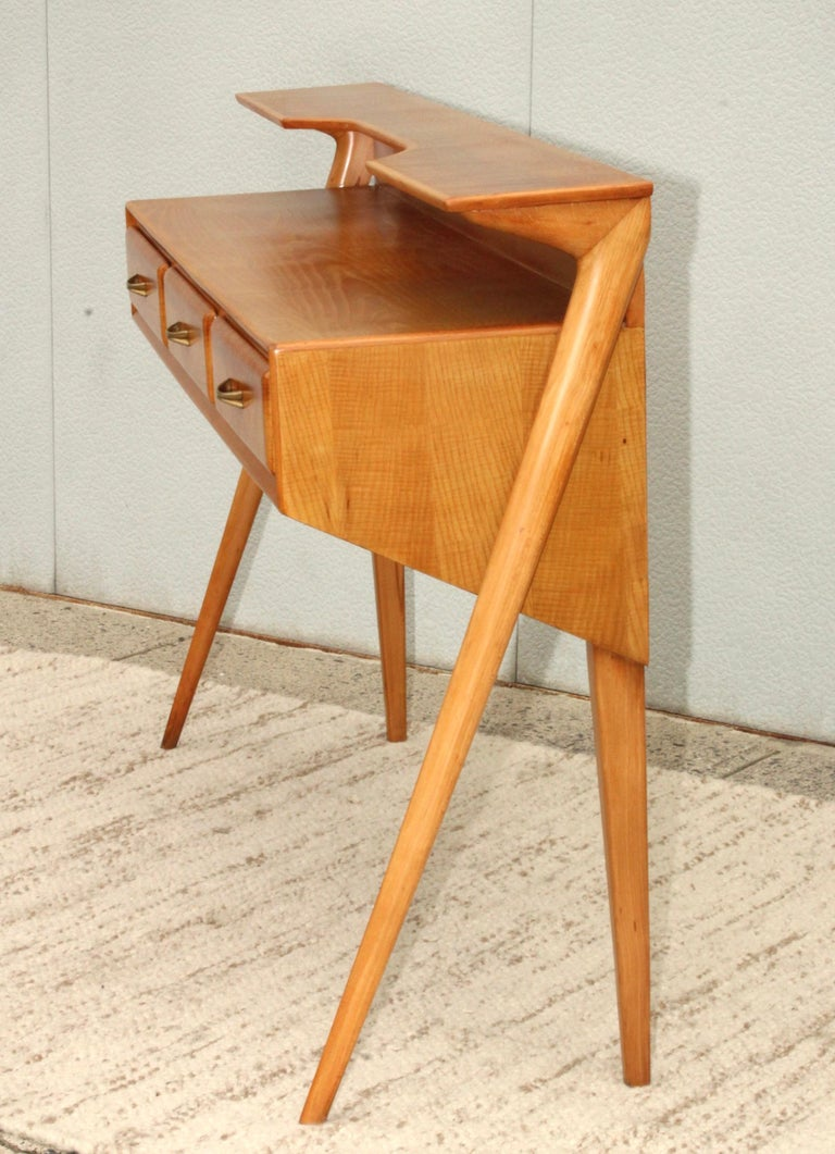 Mid-Century Modern Italian Sculptural Two-Tier Console For Sale 5