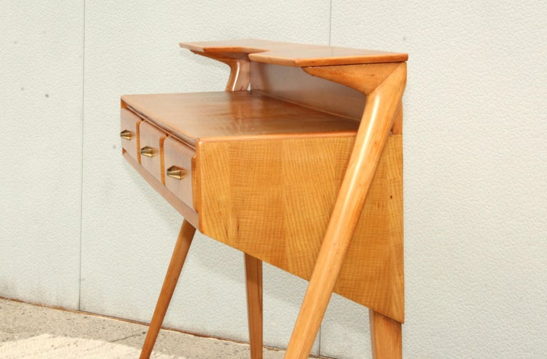 Mid-Century Modern Italian Sculptural Two-Tier Console For Sale 6