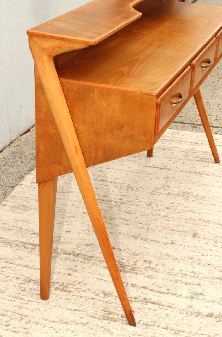 Mid-Century Modern Italian Sculptural Two-Tier Console For Sale 8
