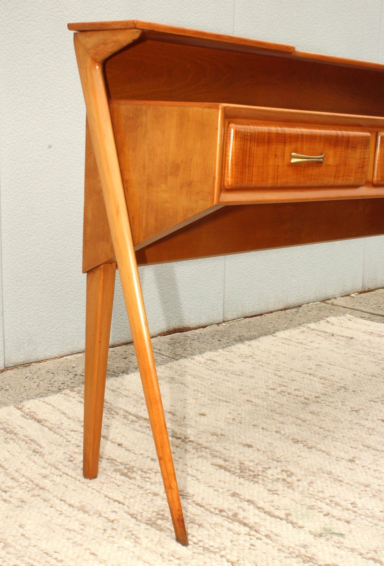 Mid-Century Modern Italian Sculptural Two-Tier Console For Sale 14