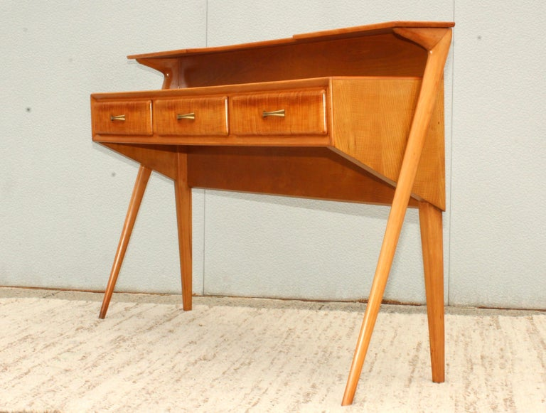 Mid-Century Modern Italian Sculptural Two-Tier Console For Sale 1